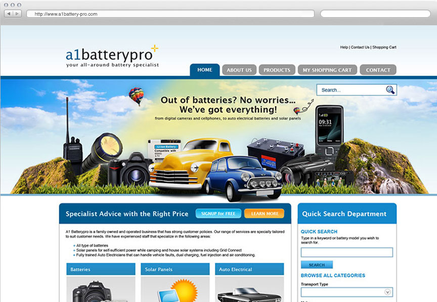 A1 Battery Pro website