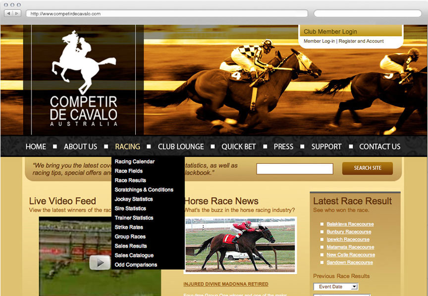 Competir De Cavalo website
