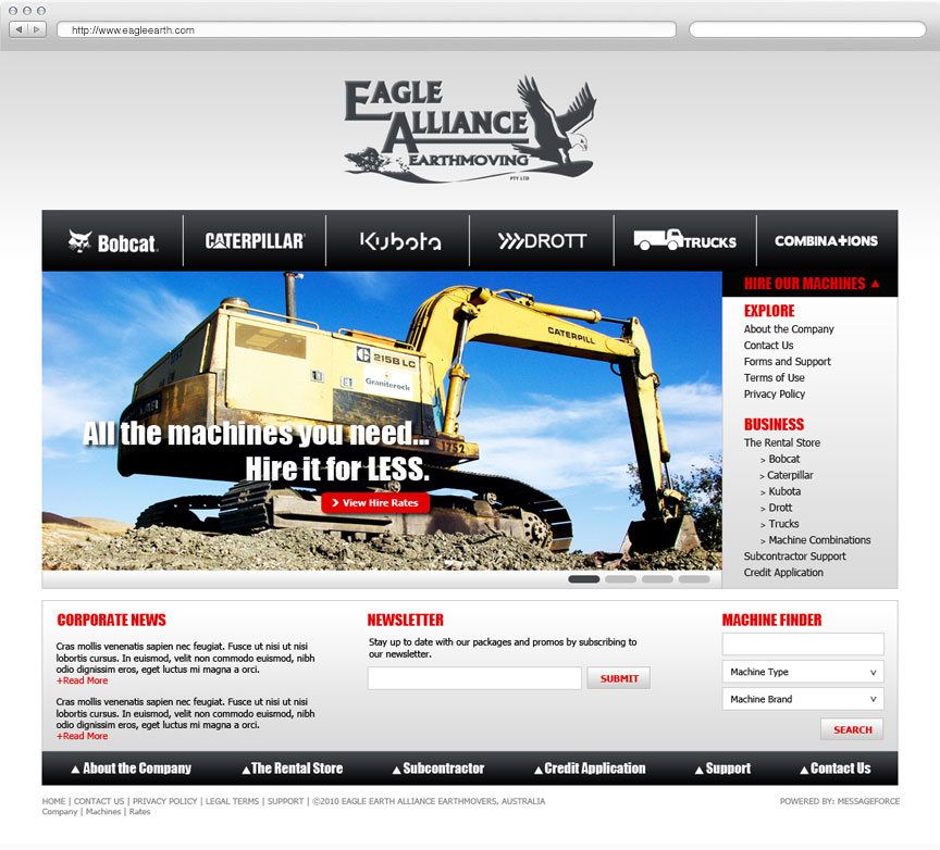 Eagle Alliance website