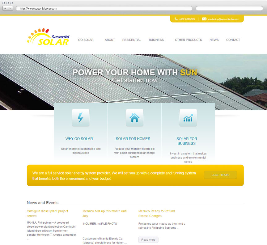 Sasonbi Solar website