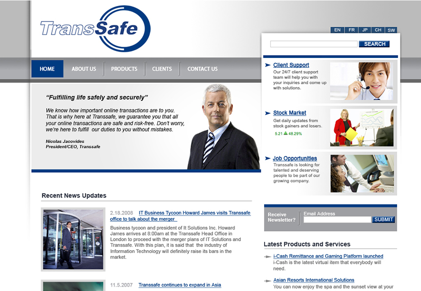 TransSafe website